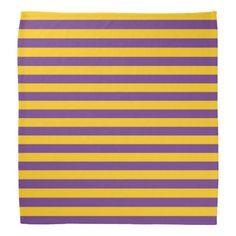 Purple and Gold Stripes Bandana