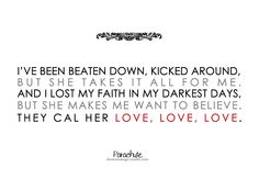 She Is Love - Parachute. Love the acoustic version of this.