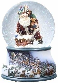 Snowglobe\ Santa Going down the Chimney