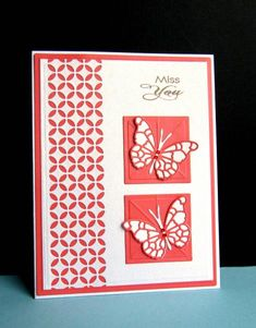 Judi Carpenter would like to make a similar card using Fresh Prints DSP Pack and Stampin' Up! butterfly stamps and cardstock.