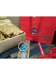 Make 2018 Wishes Upon Stars Lucky Charm, Women's Earrings, Women Accessories, Charmed, Jewels, Pendant, Christmas, How To Make, Gifts
