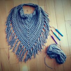 Image result for triangle fringe scarf free crochet pattern