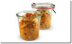 Frühstücks Kuchen im Glas-breakfast mini cakes in a jar-dolcetti per la colazione in vasetto di vetro.