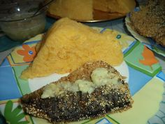 Peste in crusta de malai cu mujdei de usturoi si mamaliga 20 Min, Cornbread, Tacos, Mexican, Cooking, Ethnic Recipes, Food, Millet Bread, Kitchen