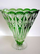 cut glass cut to clear vase Crystal Glassware, Crystal Vase, Waterford Crystal, Fenton Glass, Glass Ceramic, Cut Glass, Glass Art, Bohemia Glass, Crystal Collection