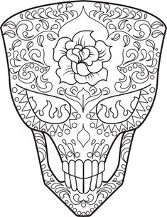 323 Best Skull Day of the dead coloring! images in 2019 ...