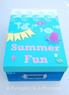 Make this fun Summer Activity Box {tutorial}