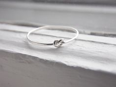 Thin Knot Ring Sterling Silver by AutumnEquinox on Etsy