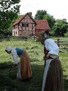 Raking hay at the Frontier Culture Museum, Staunton, VA