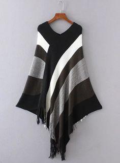 V Neck Tassel Cape Shawls Batwing Knit Sweater Cloak - $24.99 http://shareasale.com/r.cfm?b=899078&u=1560813&m=32249&urllink=http%3A%2F%2Fwww%2Eoasap%2Ecom%2Fpullovers%2F232046%2Dwomen%2Ds%2Dv%2Dneck%2Dtassel%2Dcape%2Dshawls%2Dbatwing%2Dknit%2Dsweater%2Dcloak%2Ehtml&afftrack=
