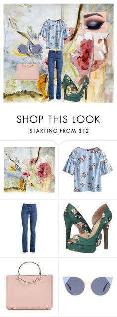 """""""Flower Shower"""" by hope89 ❤ liked on Polyvore featuring Levi's, Jessica Simpson, Future Glory Co., Fendi and lük"""