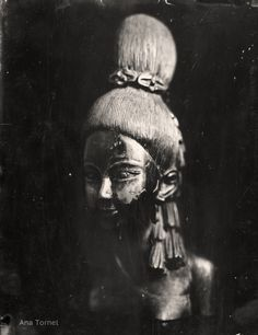 Thai Woman 18x24 cm Ambrotype on Clear Glass November 2012 © Ana Tornel,  #WetPlate #Collodion #Ambrotype #StillLife #BlackandWhite #Vintage #LargeFormat