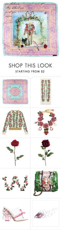 """500 followers Thank you"" by matan-sowatskey on Polyvore featuring Versace, Gucci, Dolce&Gabbana, Shourouk and Prada"