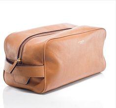 Men's Toiletry Bag In Cognac