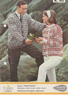 Helle-koften k 935 (Telemark) Knitting Patterns, Colours, Couple Photos, Couples, Inspiration, Style, Fashion, Scale Model, Couple Shots