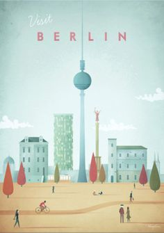 Vintage travel poster of Berlin, Germany. An original illustration for Travel Po… Vintage travel poster of Berlin, Germany. An original illustration for Travel Poster Co. by Henry Rivers. Poster Wall, Poster Prints, Art Print, Berlin Travel, Germany Travel, Poster Online, Retro Poster, Retro Print, Illustrator
