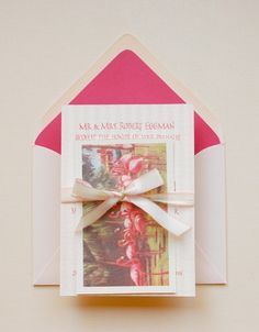 Shades of Pink: Antiquaria's Invite Suite - The Bride's Guide : Martha Stewart Weddings