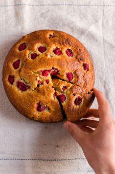 torta di ricotta e lamponi