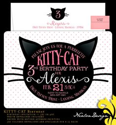 Nealon Design: KITTY-CAT Birthday invitation