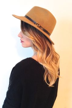Blonde ombre with a soft romantic wave.