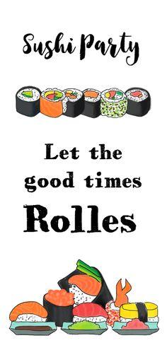 Uitnodiging Sushi Party PA, verkrijgbaar bij #kaartje2go voor €2,20