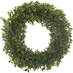 I pinned this Faux Boxwood Wreath from the Natural Decorations event at Joss and Main!