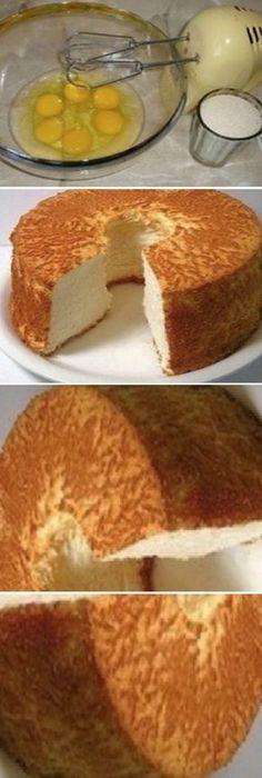 ¡Así es cómo se prepara un verdadero bizcocho! Por fin he encontrado una receta exquisita… #receta #recipe #casero #torta #tartas #pastel #nestlecocina #bizcocho #bizcochuelo #tasty #cocina #chocolate #pan #panes Bate los huevos en un tazón hondo, a alta velocidad. Las paletas de la batidora deben estar «pasando» por la superficie y solo de v... Gourmet Recipes, Sweet Recipes, Cake Recipes, Dessert Recipes, Cooking Recipes, Pan Dulce, Sweets Cake, Cupcake Cakes, Brownie Desserts