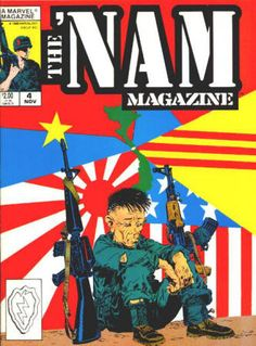 The 'Nam Magazine #4 November 1988 from a #1 - 5 run, NM-NM/M, 2 stories from the Marvel comic book series reprinted in each issue with extra material, Michael Golden covers and artwork in all. All 5 for $22