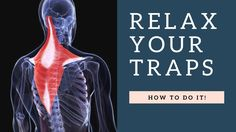 RELAX a Painful Tight Trapezius Muscle in Neck Fast: Exercises, Stretche...