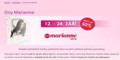 >>>Dny Marianne – Akce Dnů Marianne 2016 Salón Andělské Krásy…