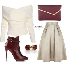 Love this outfit but I had rather have Burgundy heels 👠 and not the ankle boots . Lila Outfits, Mode Outfits, Classy Outfits, Stylish Outfits, Fashion Outfits, Womens Fashion, Elegant Outfit, Work Fashion, Fashion Fashion