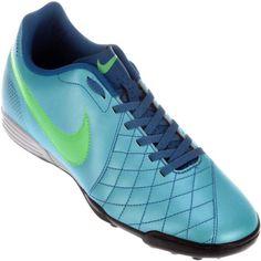 Chuteira Nike Flare TF Society Azul / Verde