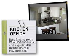 Ideas for organizing kitchen office