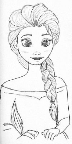 Elsa from Frozen, my tribute to the last wonderful Disney movie drawings. Elsa from Frozen, my tribute to the last wonderful Disney movie drawings Elsa from Frozen, Disney Drawings Sketches, Easy Disney Drawings, Frozen Drawings, Girl Drawing Sketches, Art Drawings Sketches Simple, Disney Princess Drawings, Girly Drawings, Beautiful Drawings, Drawing Ideas