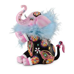 Trumpeting Joy Breast Cancer Awareness Support Elephant Figurine by The Hamilton Collection: Home & Kitchen Elephant Parade, Elephant Love, Elephant Art, Elephant Stuff, Colorful Elephant, Breast Cancer Support, Breast Cancer Awareness, Elephant Figurines, Animal Party