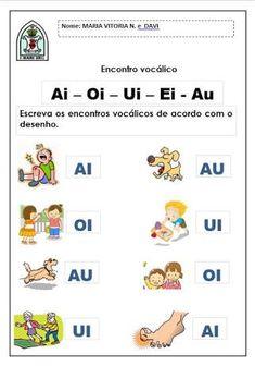 Resultado de imagem para atividades encontro vocalico ai educação infantil