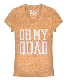 9cfba00d994807 Look at this  zulilyfind! Neon Heather Peach  Oh My Quad  V-