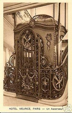 Wrought iron lifts - Hotel Meurice, Paris ✨From Deco to Atom✨ Art Nouveau Architecture, Beautiful Architecture, Art And Architecture, Architecture Details, Belle Epoque, Elevator Design, Art Nouveau Design, House Elevation, Palaces