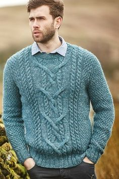 8a9a3b6af2977 Free Knitting Pattern for a Men s Cabled Sweater Cole. Skill Level   Intermediate Stylish men s sweater featuring beautiful cables and textural  stitch