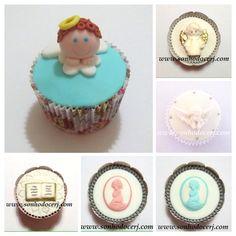 Cupcakes Batizado / Primeira comunhão! curta nossa página no Facebook: www.facebook.com/sonhodocerj