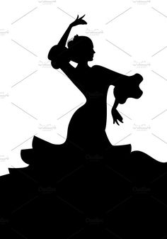 Silhouettes of Passion II by La Inspiratriz on Dancer Silhouette, Black Silhouette, Woman Silhouette, Black Pen Drawing, Dancer Drawing, Ballerina Art, Acrylic Painting Tips, Dance Paintings, Flamenco Dancers