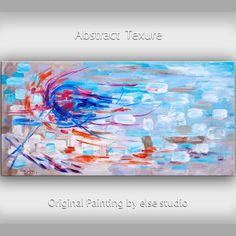 Huge Art painting original Modern abstract painting Impasto Texture Acrylic Painting on gallery wrap canvas by Tim Lam 48  x 24 via Etsy