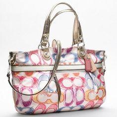 Coach Poppy Dream C Rocker Handbag Purse Multi Color from Picsity.com