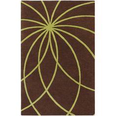 Art of Knot Douglas Wool Area Rug, Brown