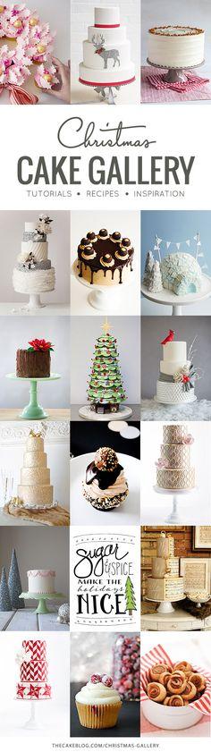 Merry Christmas from your friends at TheCakeBlog.com!  | Christmas cake recipes, tutorials & design inspiration!