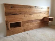 trendy bedroom bed headboard diy projects trendy bedroom bed headboard diy projects Related posts: Best DIY Projects: Easy DIY Platform Bed that anyone can build! 61 Easy DIY Bed Frame Projects You Can Build on a Budget Ana White Timber Beds, Wood Beds, Timber Bedhead, Timber Walls, Bed Furniture, Pallet Furniture, Hardwood Furniture, Dark Furniture, Furniture Ideas