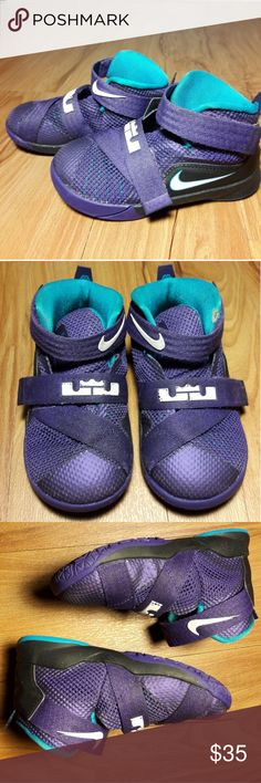 Toddler Nike LeBron James Sneakers Size 7C Unisex NIKE LEBRON JAMES SHOES UNISEX CHILD/TODDLER PURPLE HI TOP SNEAKERS SZ 7C  Pre-owned in Excellent condition with minor flaw.  Please view all images before purchasing.  Thank you for Looking &Sharing Happy Poshing😄💗 Nike Shoes Sneakers
