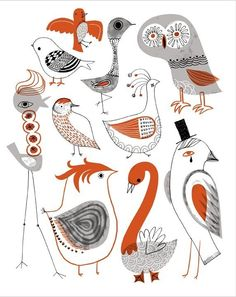 Kooky Birds by Sarah Walsh