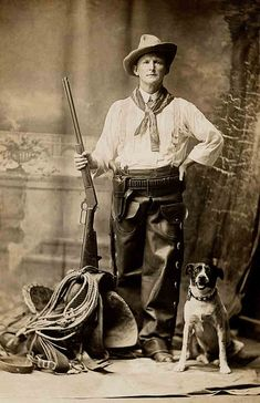 *Cowboy and his dog...Libby Hall Collection