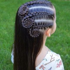 In love with this Dutch braid swirl style by ❤️? In love with this Dutch braid swirl style by ❤️? Childrens Hairstyles, Little Girl Hairstyles, Up Hairstyles, Braided Hairstyles, Teenage Hairstyles, Boy Haircuts, Good Hair, Curly Hair Styles, Natural Hair Styles